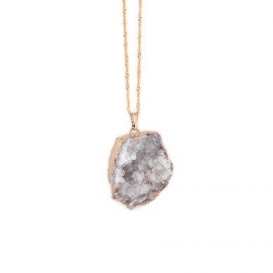 Bergkristall Schmuck Kette Gold vergoldet Madeleine Issing