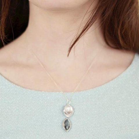 Damen Halskette Silber mit Anhänger Madeleine Issing