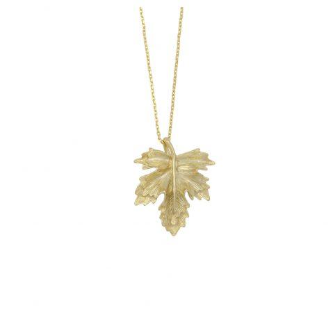 Goldkette Damen mit Blatt Anhänger Madeleine Issing