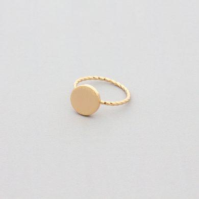 Goldring dünn filigraner dünner goldener Ring Madeleine Issing