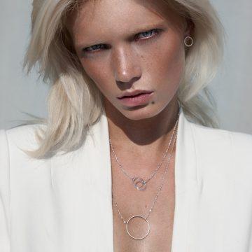Halskette Silber rhodiniert Cirlce Madeleine Issing