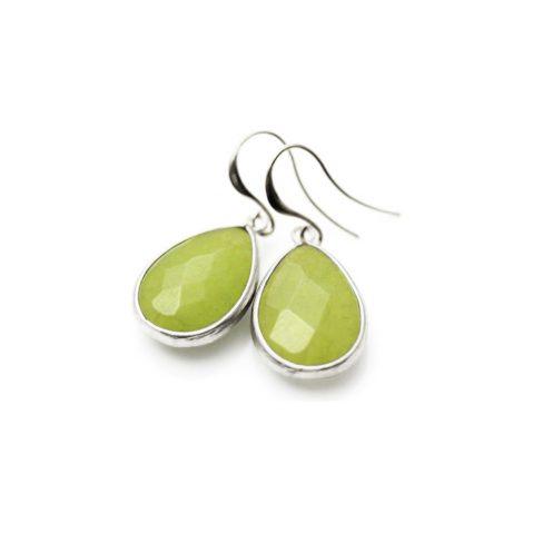 Ohrringe grün Silber Tropfenform Madeleine Issing