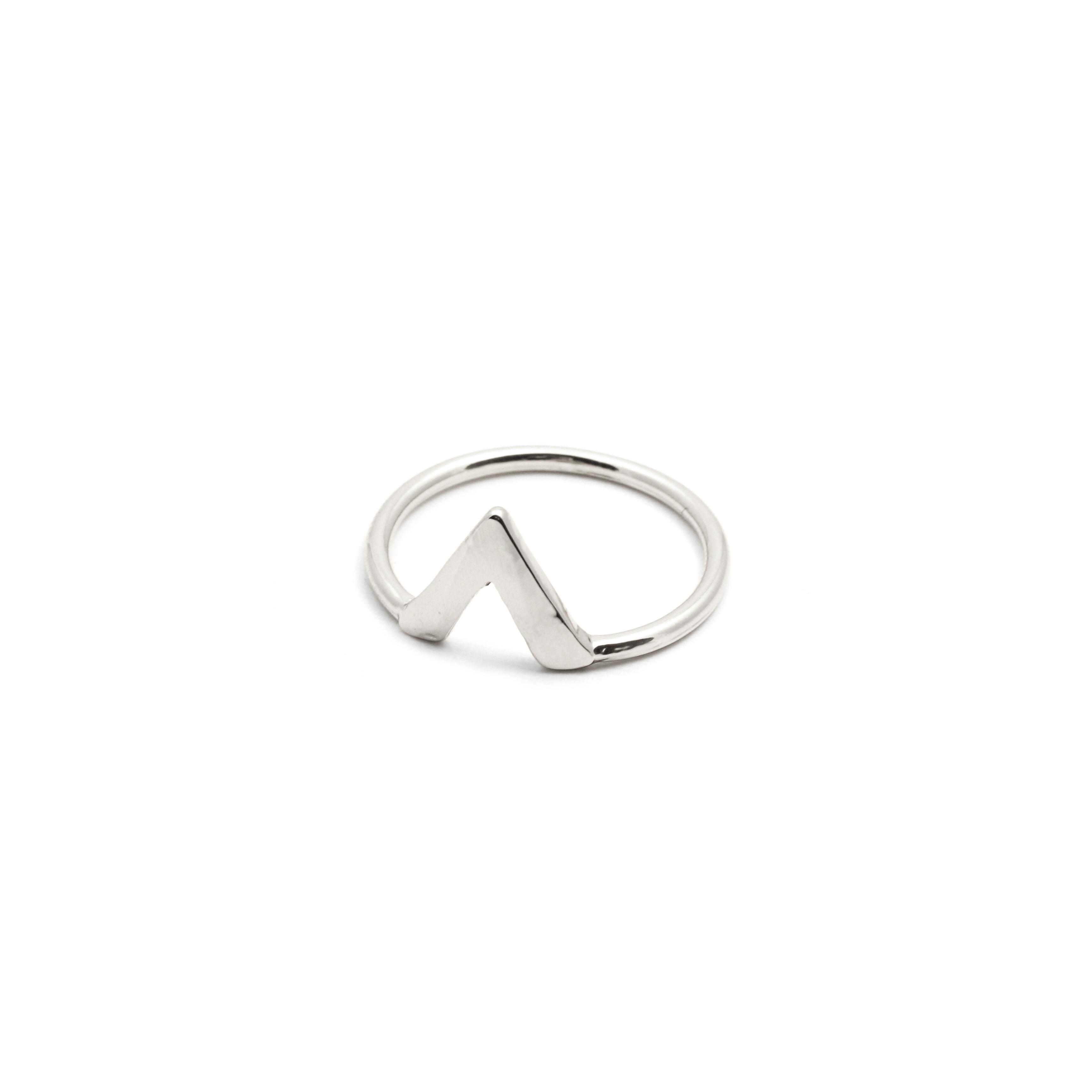 Ring geometrisch Silber triangle MADELEINE ISSING