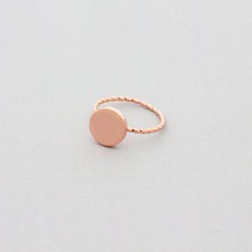 Rotgold Ring rose vergodelter Ring Madeleine Issing