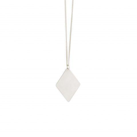 Silber Kette Halskette rhodiniert rhomb Madeleine Issing