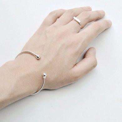 dünner Silberring Silber Ring Bar Madeleine Issing