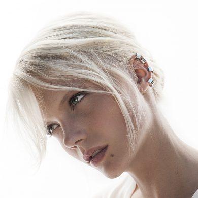 ear cuff silber Ohrclip tube Madeleine Issing