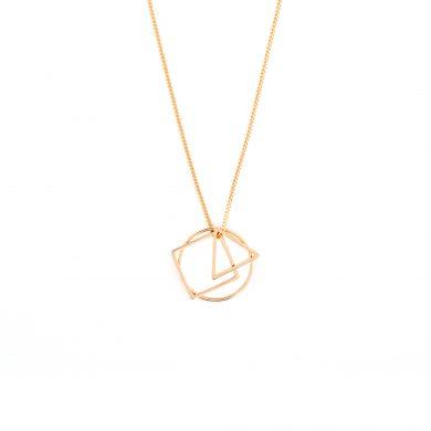 geometrische Halskette Gold vergoldet Geo Love Madeleine Issing