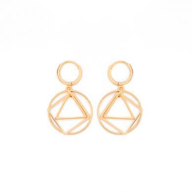 geometrische Ohrringe Gold vergoldet Geo Love Madeleine Issing