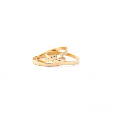 goldene Ringe Stapelringe stack vergoldet Madeleine Issing