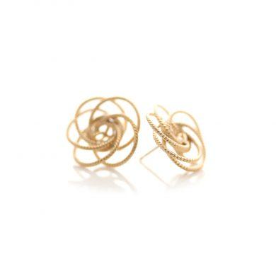 runde Ohrstecker Gold vergoldet
