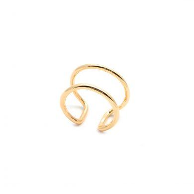 schlichter Goldring Doppelring vergoldet Madeleine Issing