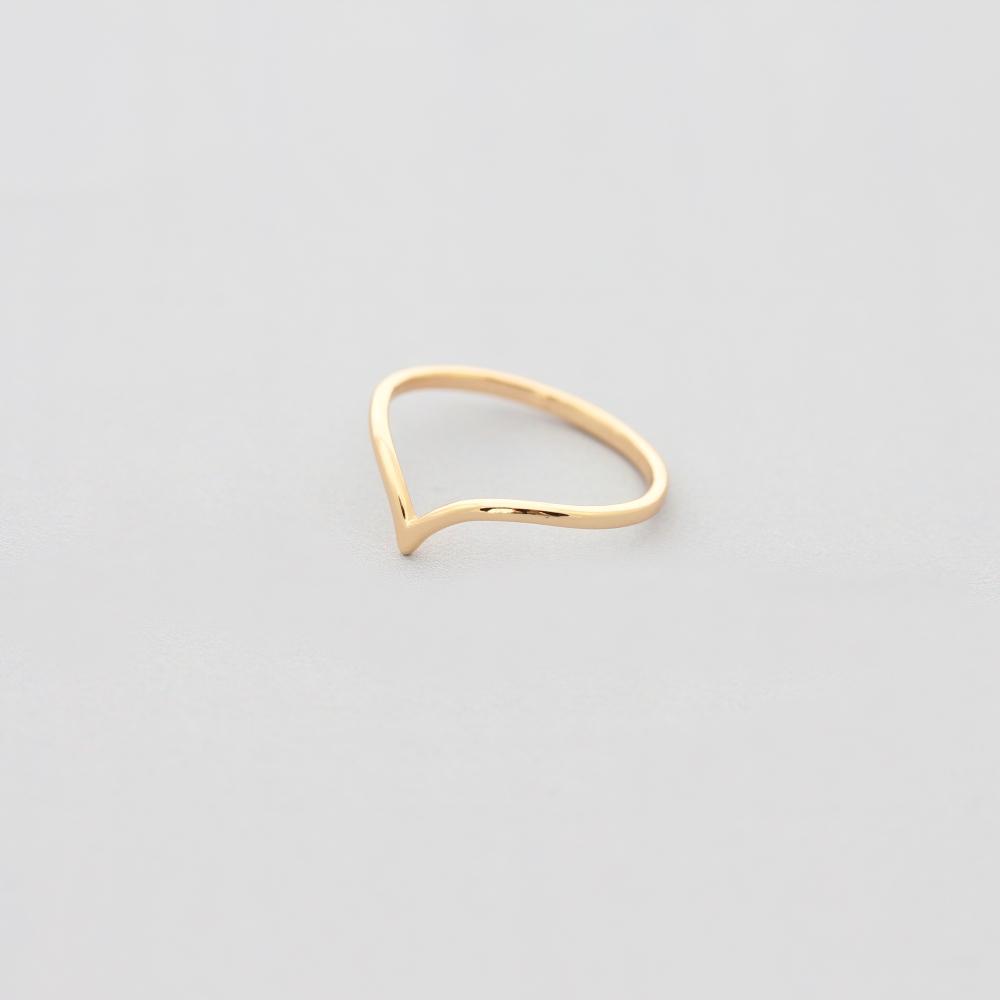 Ring vergoldet schmal