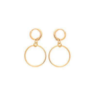 vergoldete Ohrringe runde Creolen Gold legiert Madeleine Issing