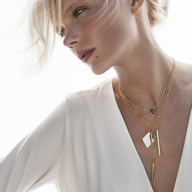 Gold Kette vergoldete Halskette Rhomb Madeleine Issing
