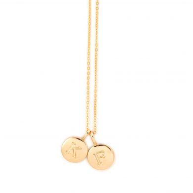 Kette mit Buchstaben in Gold vergoldet Madeleine Issing