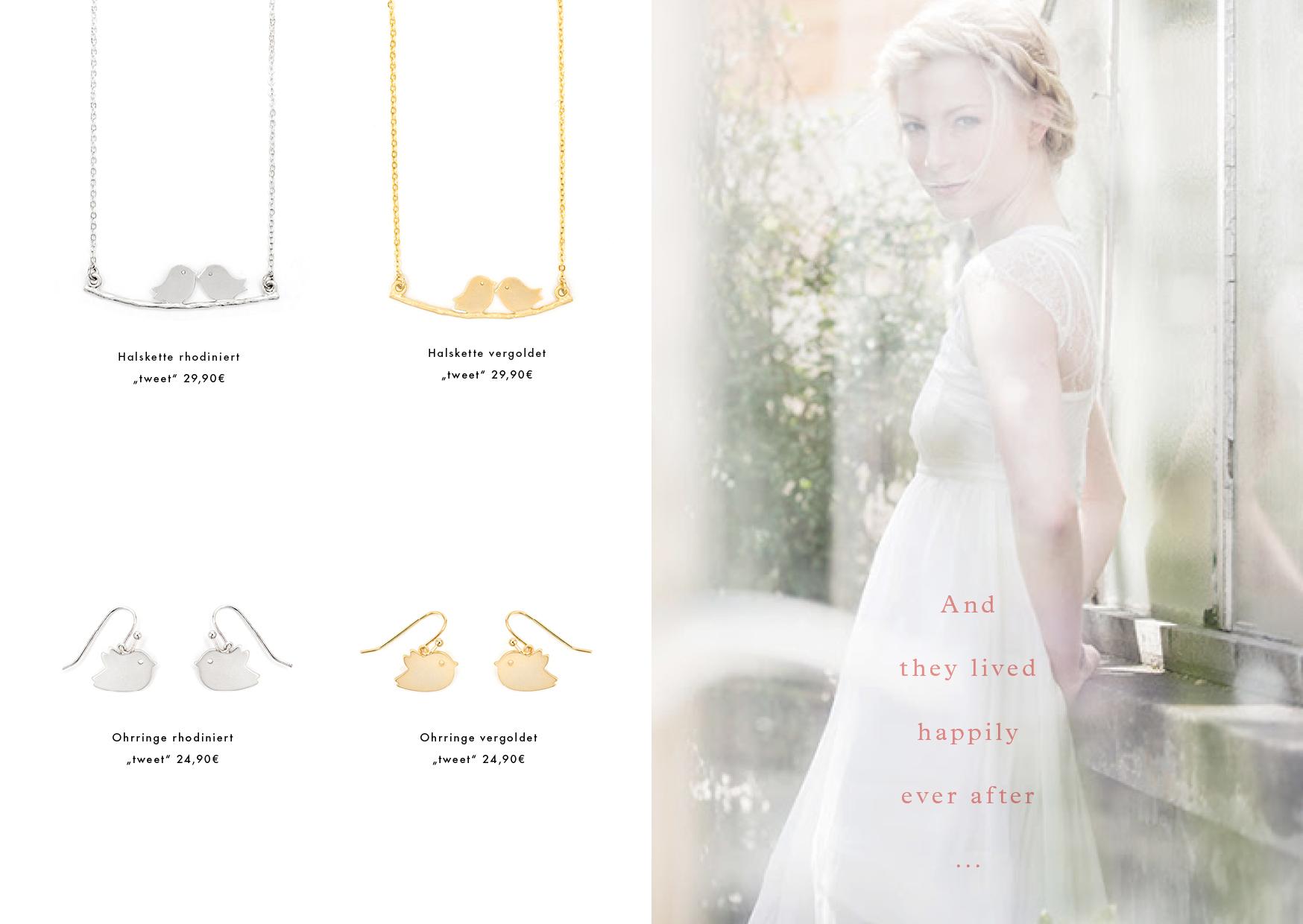 Hochzeitsschmuck Ohrringe gold silber Madeleine Issing