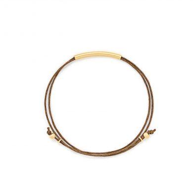 Armband dunkelbraun tube Madeleine Issing