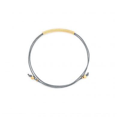 Armband grau vergoldet Madeleine Issing