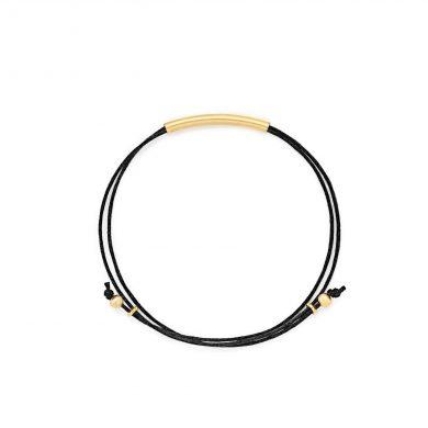 Armband schwarz aus Baumwollgarn Madeleine Issing