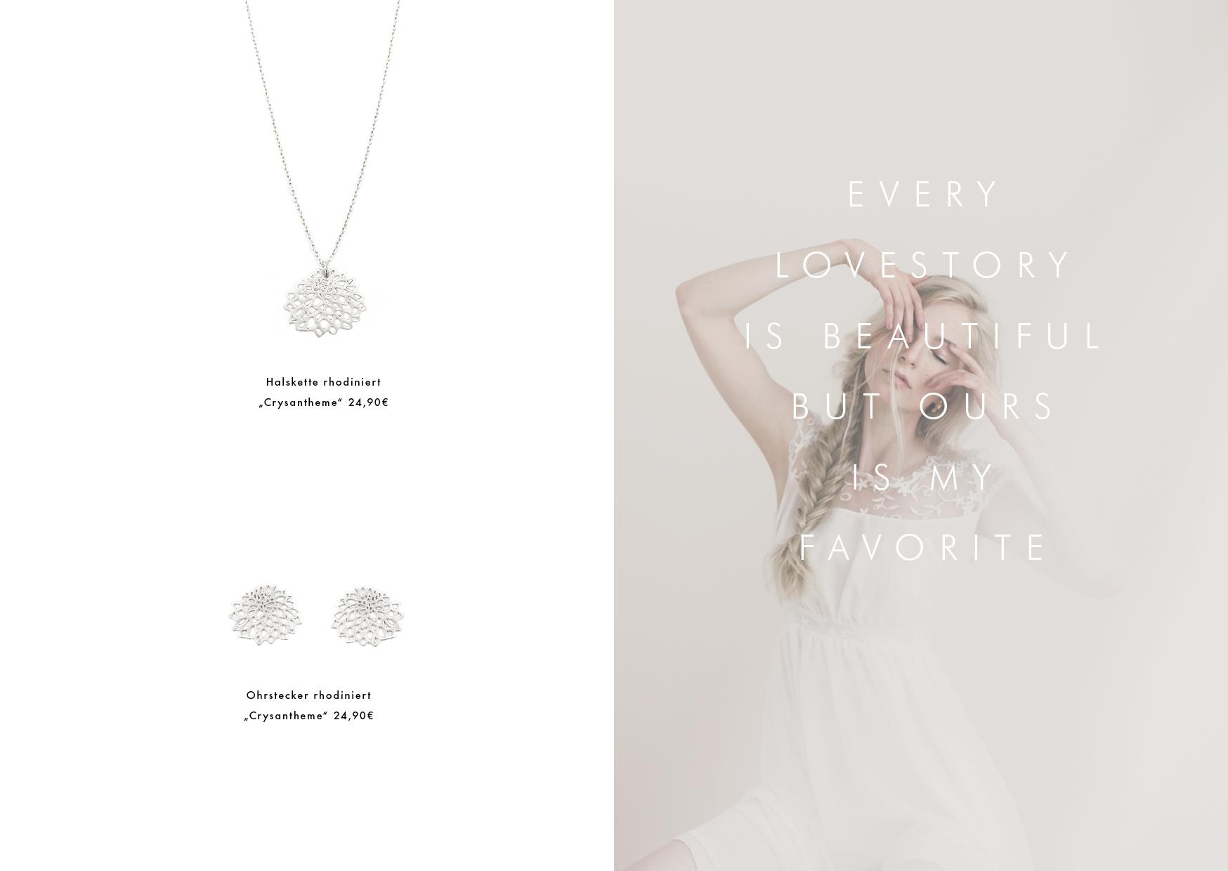 Schmuck für die Braut Halskette silber Madeleine Issing