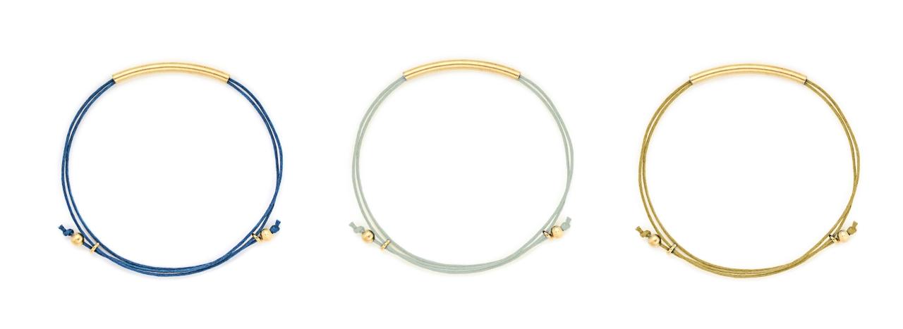 filigrane Armbänder mit verstellbaren Knoten Madeleine Issing 1