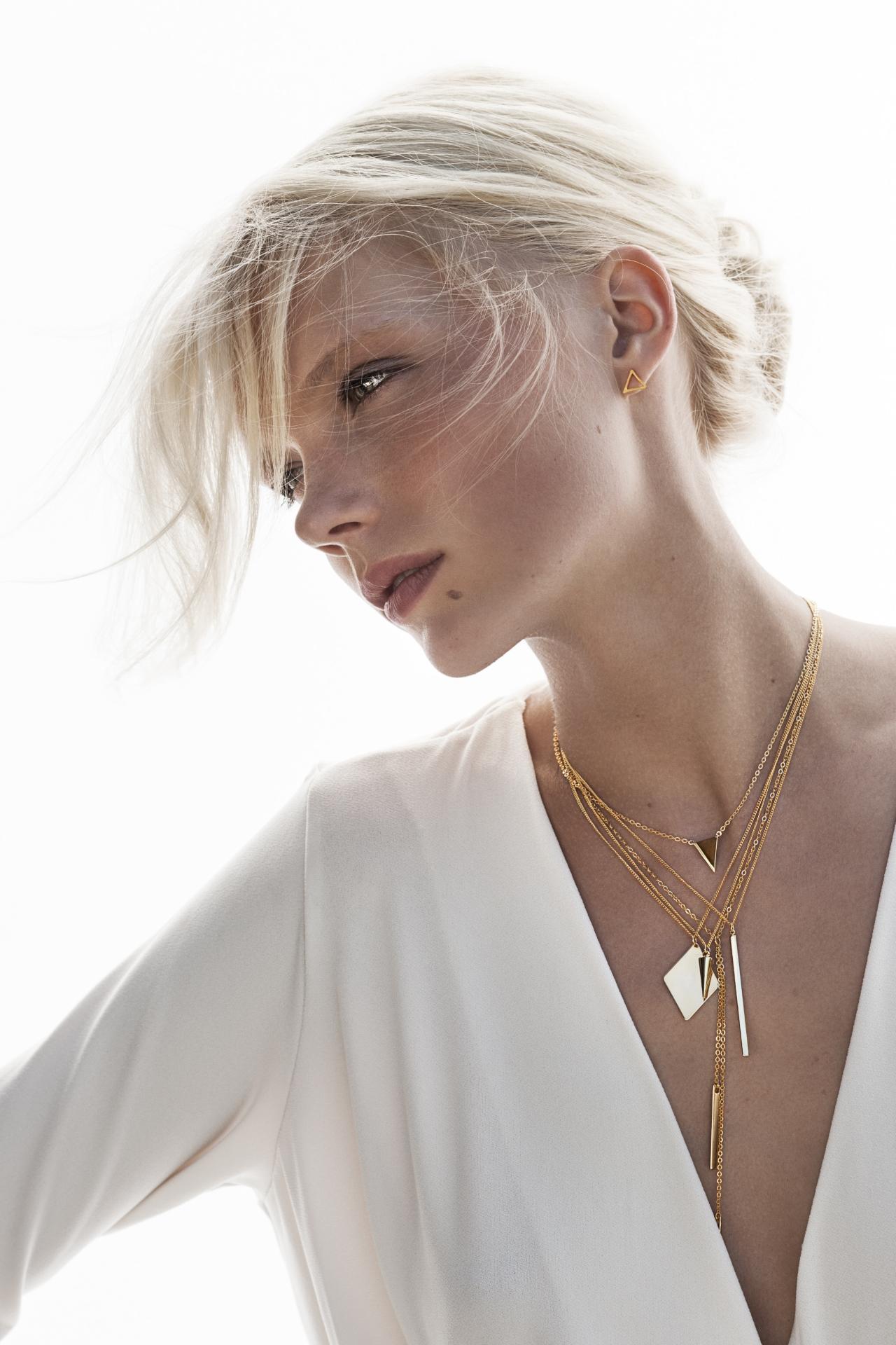 Layering Look mit filigranen Halsketten 2