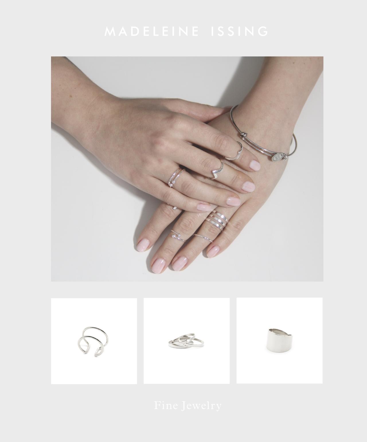 fingerkuppenringe und knuckle ringe silber madeleine issing