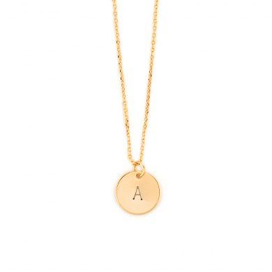 Halskette Anhänger mit Gravur Gold vergoldet Madeleine Issing