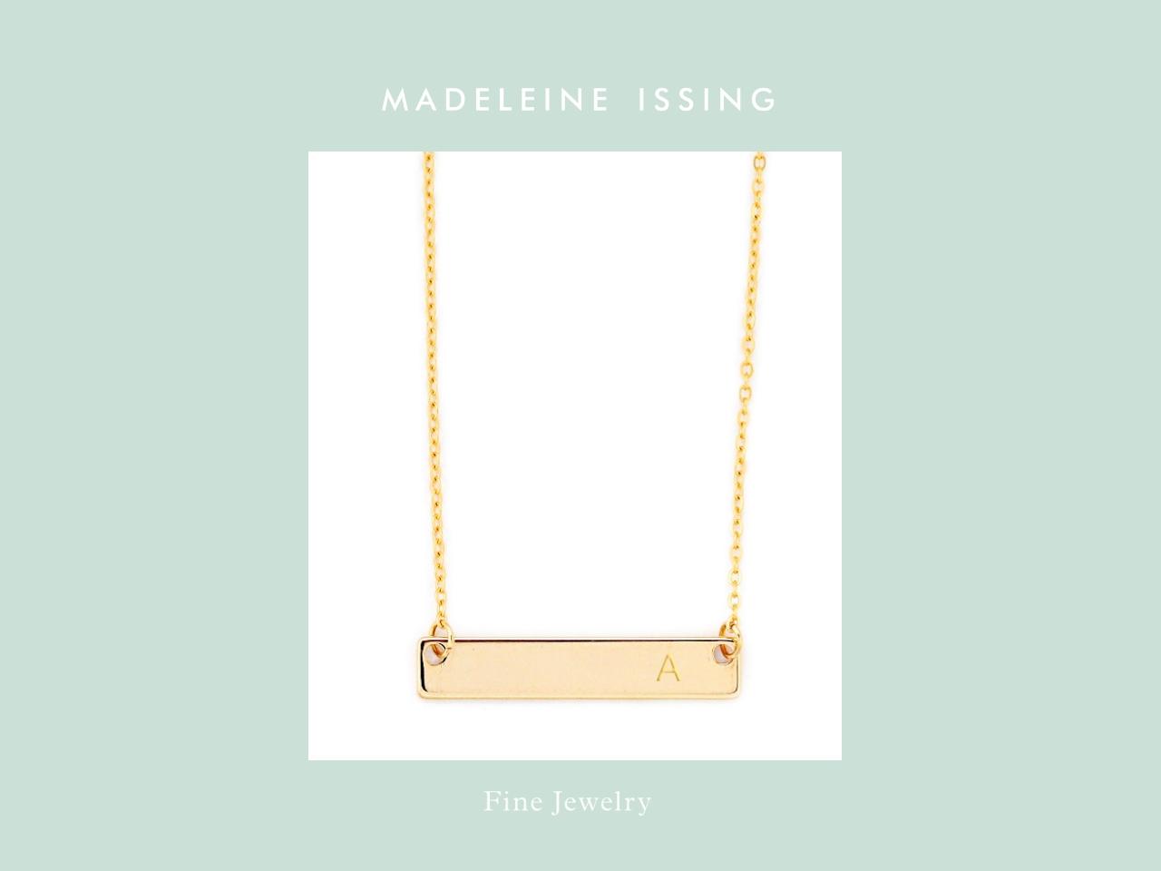 Halskette mit Bcuhstaben Gold Madeleine Issing