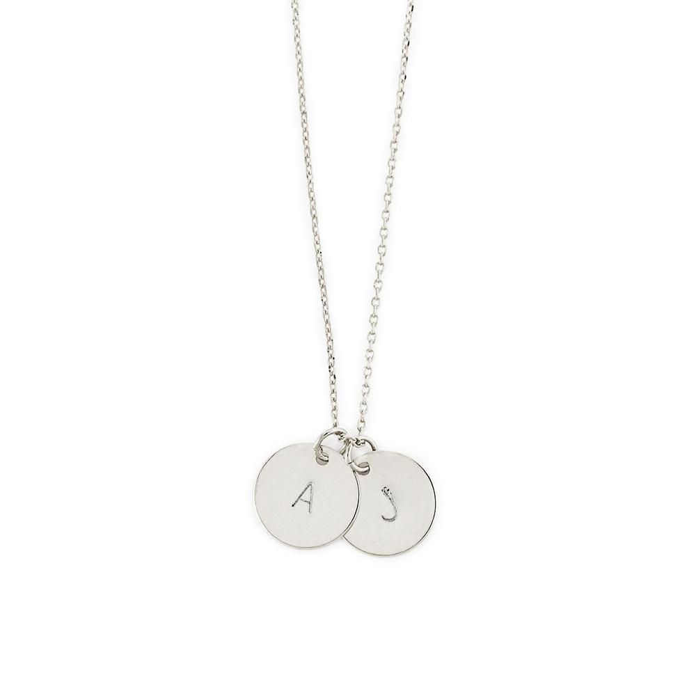 Kette silber  Initialen Kette Silber mit Gravur - MADELEINE ISSING