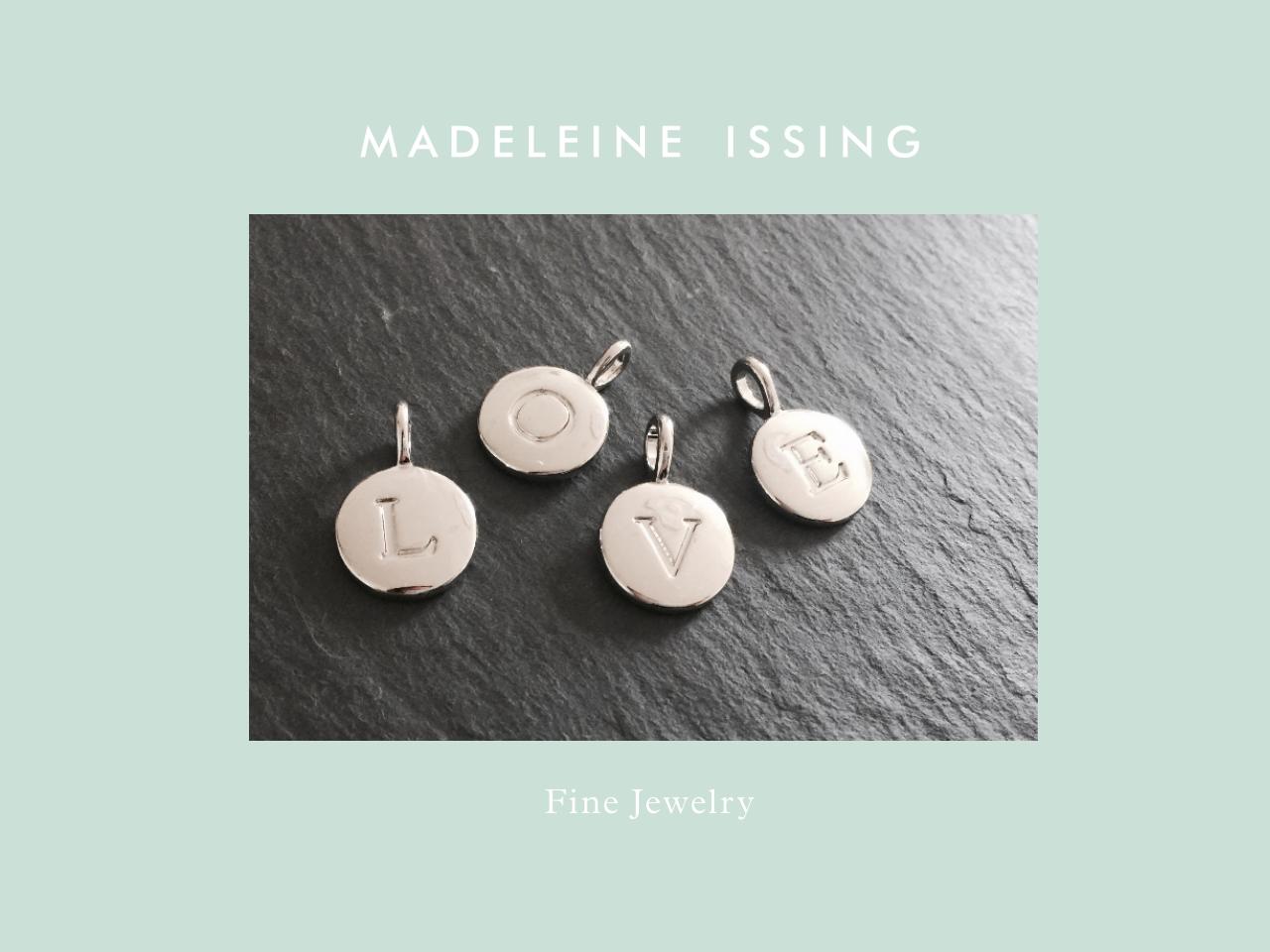 Schmuckbuchstaben Buchstabenanhänger Madeleine Issing