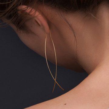 Ketten Ohrring in Gold vergoldet Madeleine Issing