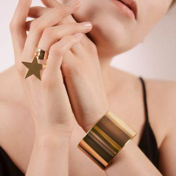 Ring mit Stern Anhänger Gold Madeleine Issing