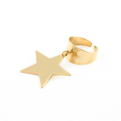 Ring mit Stern Anhänger Gold vergoldet Madeleine Issing