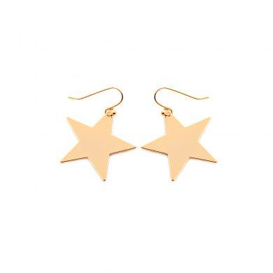 große Stern Ohrringe Gold vergoldet Sterne Madeleine Issing