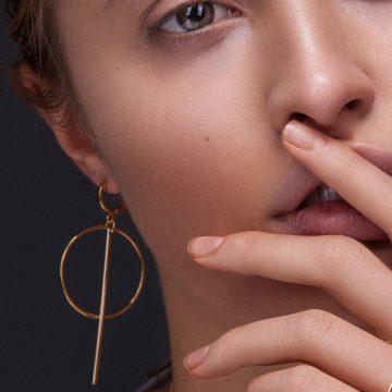 große runde Ohrringe gold vergoldet Madeleine Issing