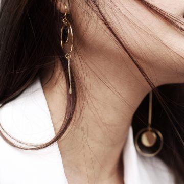 großer Ohrring gold mit Anhägern Statement Ohrring Madeleine Issing