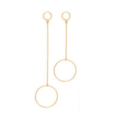 Ohrringe Gold 585 vergoldet lang rund Madeleine Issing