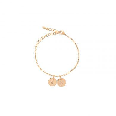 goldenes Armband mit Gravur vergoldet Madeleine Issing