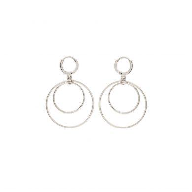 minimalistische Ohrringe Silber Kreise Madeleine Issing