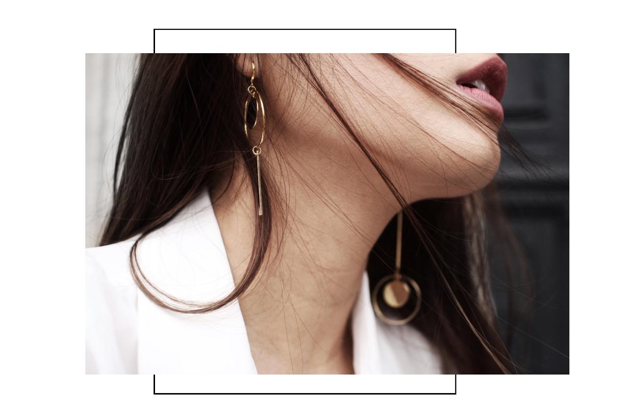 Modeschmuck ohrringe gold  Modeschmuck Ohrringe in unterschiedlichen Längen - MADELEINE ISSING