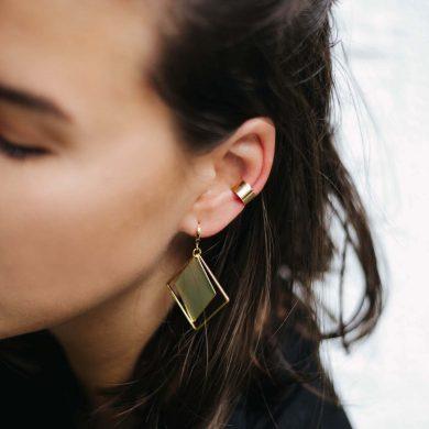 Moderne Ohrringe Gold vergoldet Madeleine Issing