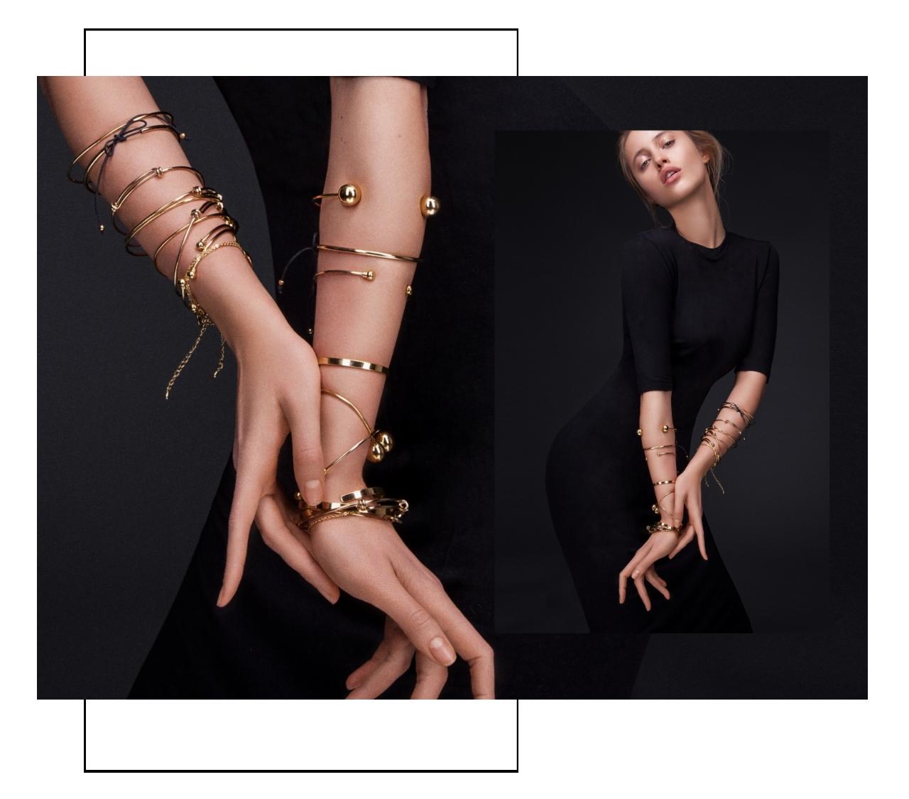 dünne Gold Armbänder Madeleine Issing