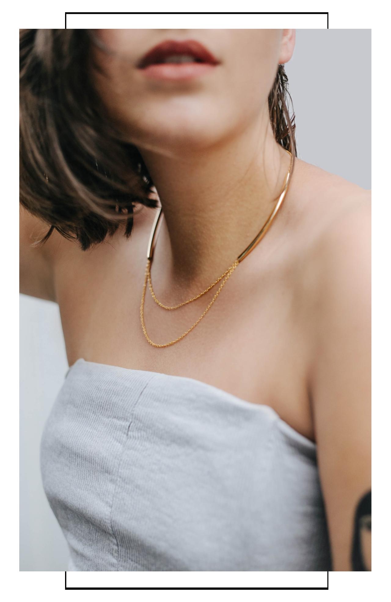 feine Halsketten Gold vergoldet Madeleine Issing