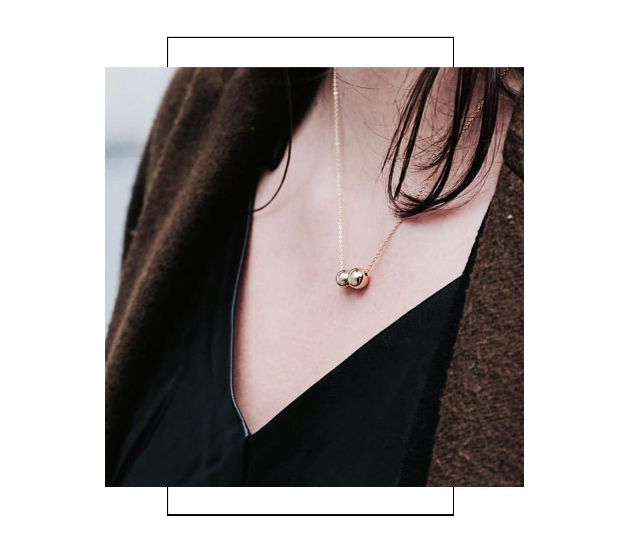 schlichte Halskette Gold Madeleine Issing