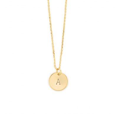Goldkette mit Goldplättchen Gravur Madeleine Issing 2