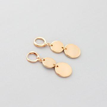 Ohrringe mit Goldplättchen vergoldet Madeleine Issing