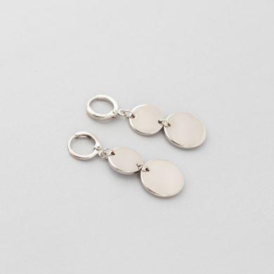 Ohrringe mit filigranen Silberplättchen