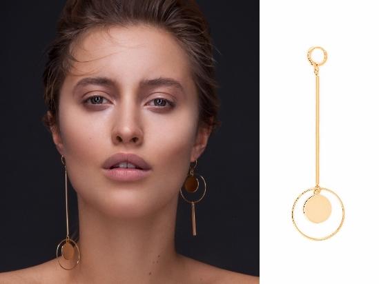 Ohrschmuck große Ohrringe gold vergoldet Madeleine Issing